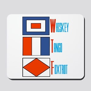 WTF Signal Flags Mousepad