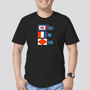 WTF Signal Flags Men's Fitted T-Shirt (dark)