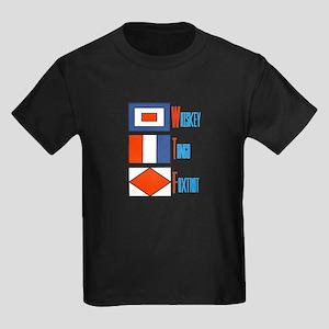 WTF Signal Flags Kids Dark T-Shirt