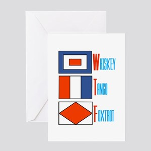 WTF Signal Flags Greeting Card