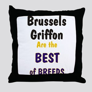 Brussels Griffon Best Breed Throw Pillow