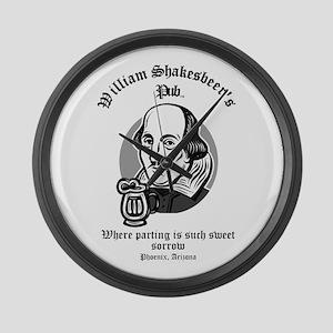 William Shakesbeer's Pub: Par Large Wall Clock