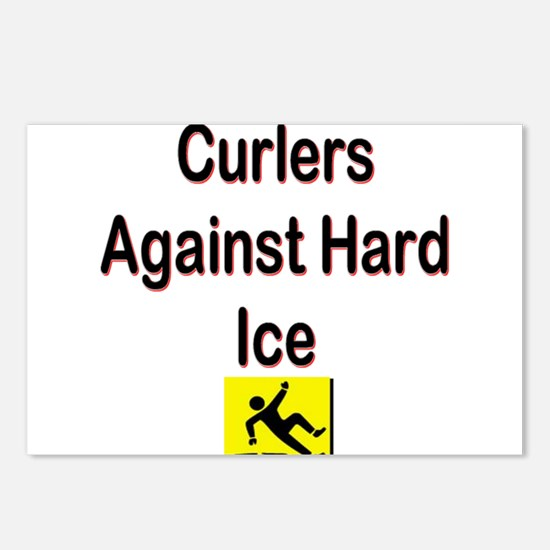 Curlers Against Hard Ice Postcards (Package of 8)