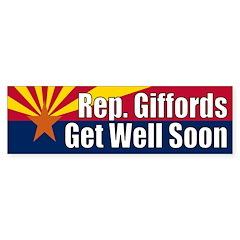 Gabrielle Giffords Get Well Soon bumper sticker