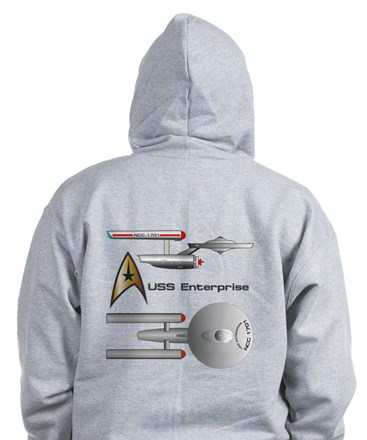 Starship Enterprise Zipped Hoody
