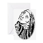 Hildegard Self Portrait Greeting Cards (Pk of 10)