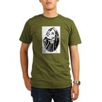 Hildegard Self Portrait Organic Men's T-Shirt (dar
