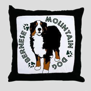 Standing Bernese Mountain Dog Throw Pillow