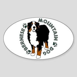 Standing Bernese Mountain Dog Sticker (Oval)