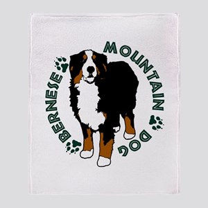 Standing Bernese Mountain Dog Throw Blanket