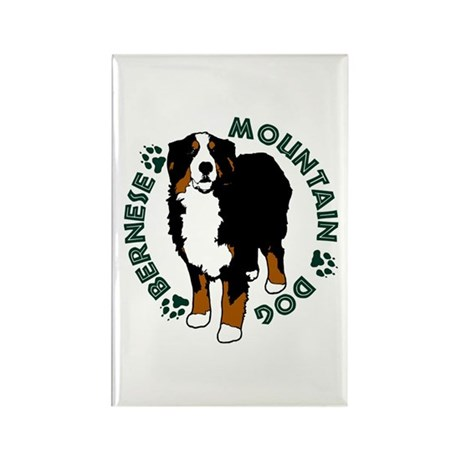 Standing Bernese Mountain Dog Rectangle Magnet (10