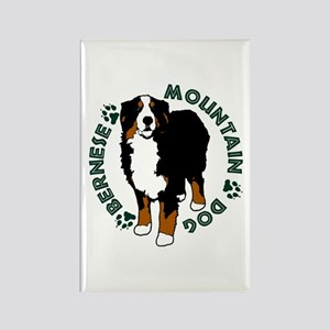 Standing Bernese Mountain Dog Rectangle Magnet