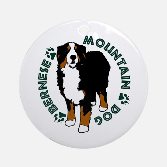 Standing Bernese Mountain Dog Ornament (Round)