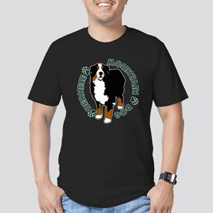 Standing Bernese Mountain Dog Men's Fitted T-Shirt