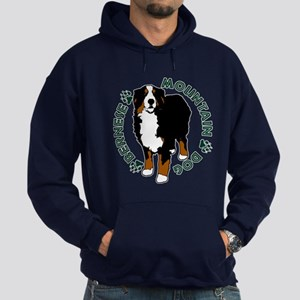 Standing Bernese Mountain Dog Hoodie (dark)