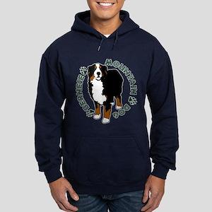 Standing Bernese Mountain Dog Hoodie (dark)