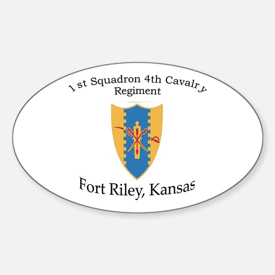 1st Squadron 4th Cavalry Sticker (Oval)