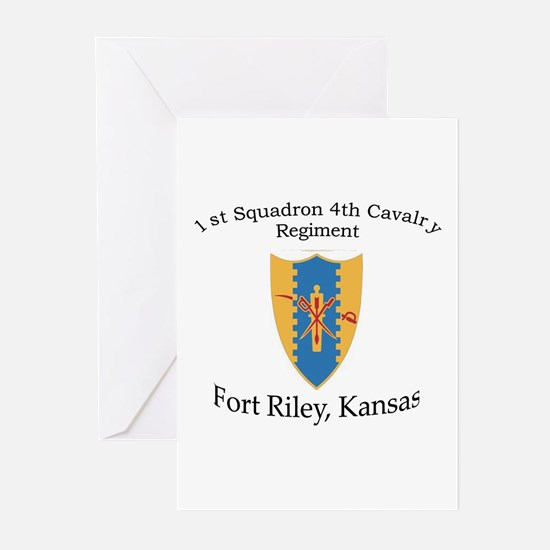 1st Squadron 4th Cavalry Greeting Cards (Pk of 10)