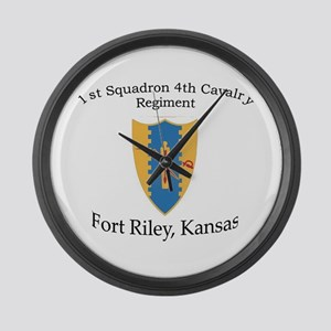 1st Squadron 4th Cavalry Large Wall Clock