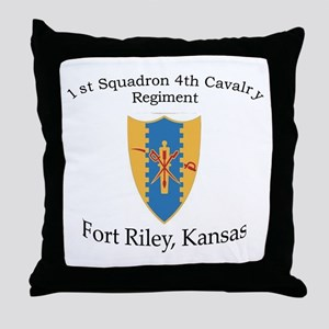 1st Squadron 4th Cavalry Throw Pillow