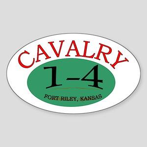 1st Squadron 4th Cavalry Sticker (Oval)