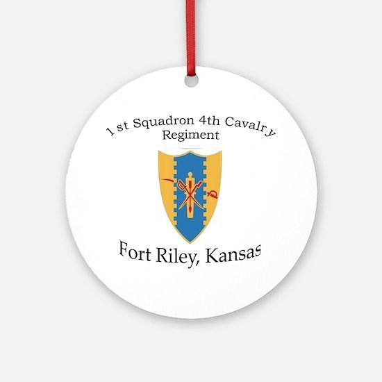 1st Squadron 4th Cavalry Ornament (Round)