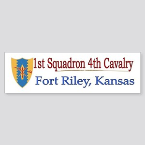 1st Squadron 4th Cavalry Sticker (Bumper)