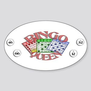 Bingo Queen Oval Sticker