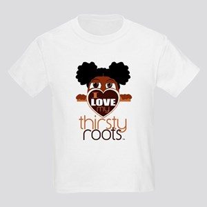 Lil' Girl Afro Puffs Kids Light T-Shirt