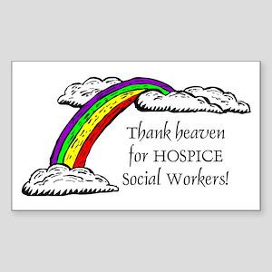 Thank Heaven Hospice Rectangle Sticker