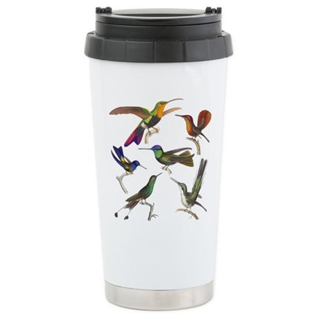 Six Pretty Hummingbirds Stainless Steel Travel Mug