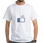The Like geek White T-Shirt