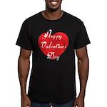 Happy Valentines Day Men's Fitted T-Shirt (dark)