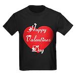 Happy Valentines Day Kids Dark T-Shirt
