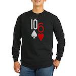 10s 6h Poker Hand Long Sleeve Dark T-Shirt