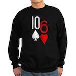 10s 6h Poker Hand Sweatshirt (dark)
