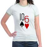 10s 6h Poker Hand Jr. Ringer T-Shirt