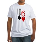 10s 6h Poker Hand Fitted T-Shirt