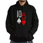 10s 6h Poker Hand Hoodie (dark)