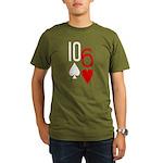 10s 6h Poker Hand Organic Men's T-Shirt (dark)