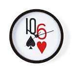 10s 6h Poker Hand Wall Clock