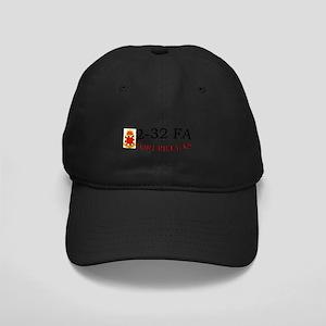 2nd Bn 32nd Field Artillery Black Cap