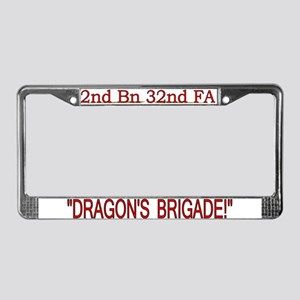 2nd Bn 32nd Field Artillery License Plate Frame