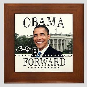 Obama Forward 2012 Framed Tile