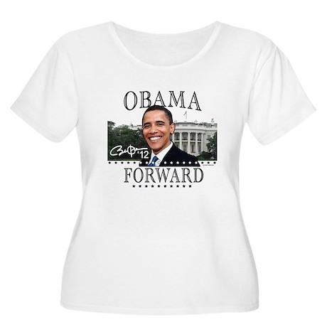 Obama Forward 2012 Women's Plus Size Scoop Neck T-