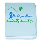 An organ donor saved my son's baby blanket