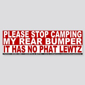 Stop Camping Me MMORPG Bumper Sticker