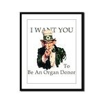 I want You Framed Panel Print