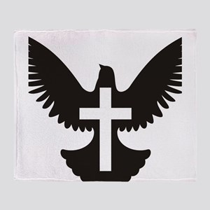 Dove cross Throw Blanket