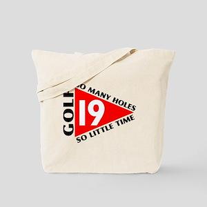 19th Hole Golf Tote Bag